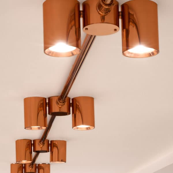 future designs lighting. Designed In Collaboration With Barr Gazetas, This Lighting System Features At The Crown Estate-owned Regent Street Mezzanine. It Marries Traditional Copper Future Designs G